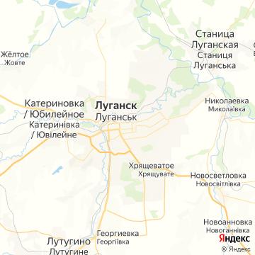 Карта Луганска