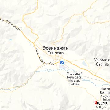 Карта Эрзинджана