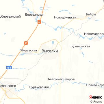 Карта Выселков