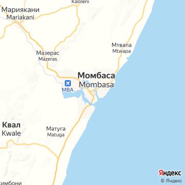 Карта Момбасы
