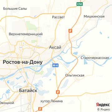 Карта Аксая