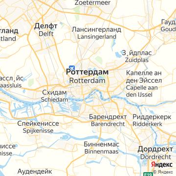 Карта Роттердама