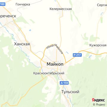 Карта Майкопа