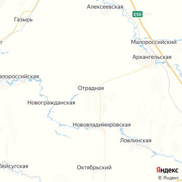 Карта Отрадной