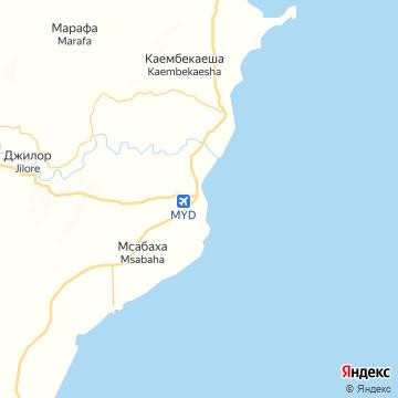 Карта Малинди