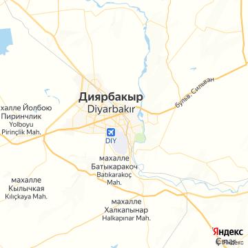 Карта Диярбакыра