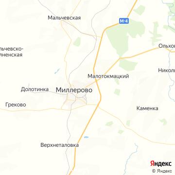 Карта Миллерово
