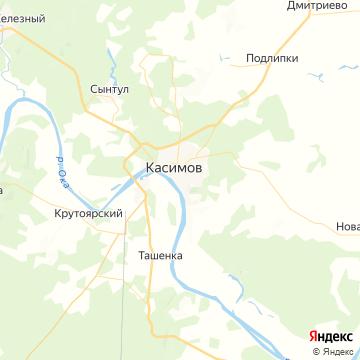 Карта Касимова