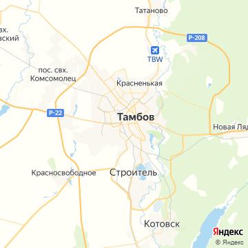 Карта Тамбова