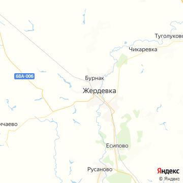 Карта Жердевки