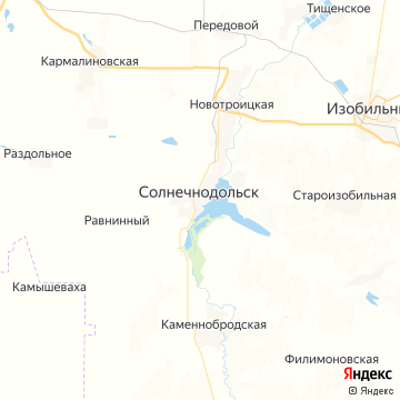 Карта Солнечнодольска