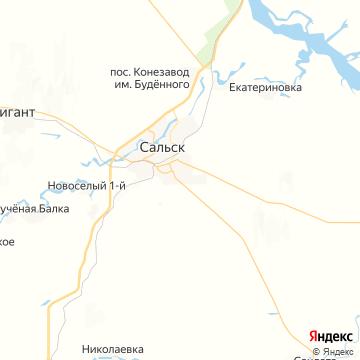 Карта Сальска