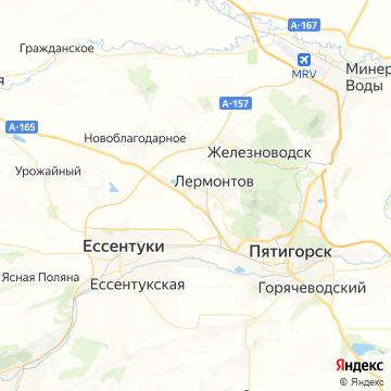 Карта Лермонтова
