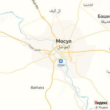 Карта Мосула