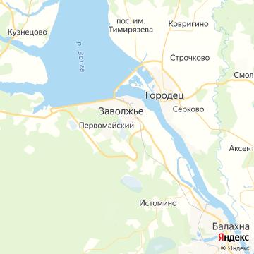Карта Заволжья