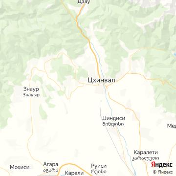 Карта Цхинвала