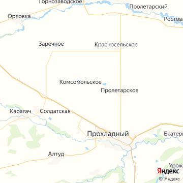 Карта Прохладного