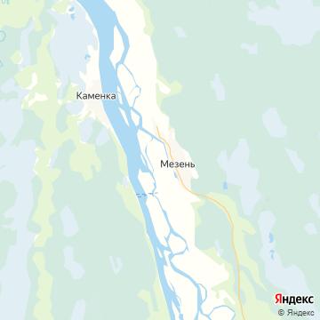 Карта Мезени