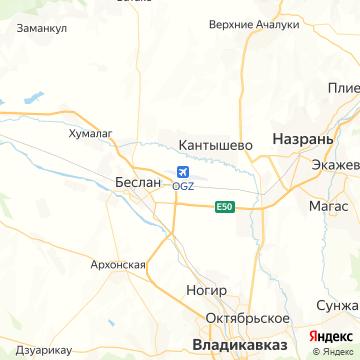 Карта Владикавказа
