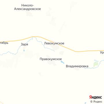 Карта Левокумского