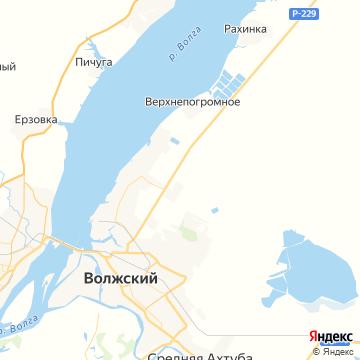 Карта Волжского
