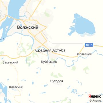 Карта Средней Ахтубы