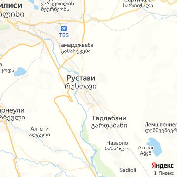 Карта Рустави