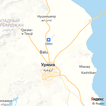 Карта Urmieh