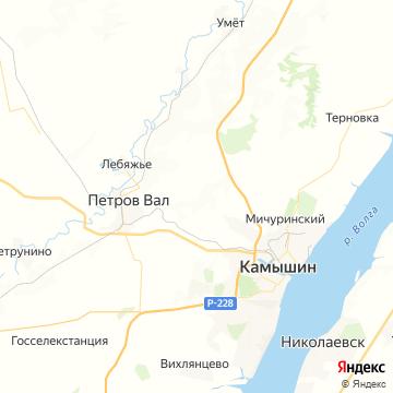 Карта Камышина