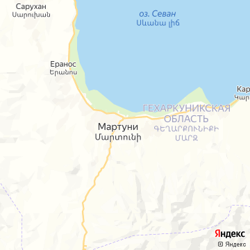 Карта Мартуни