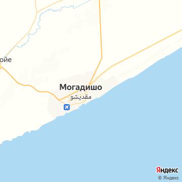 Карта Могадишу