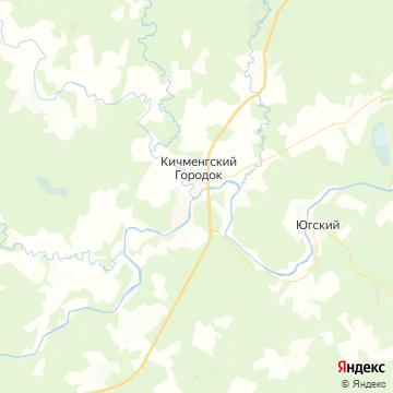 Карта Кичменгского Городка