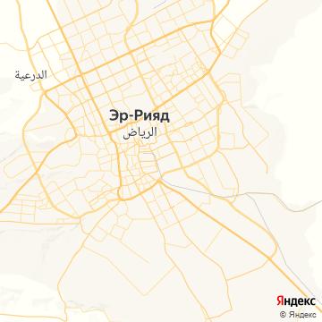 Карта Рияда