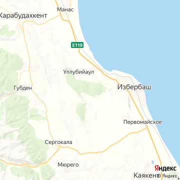 Карта Избербаша