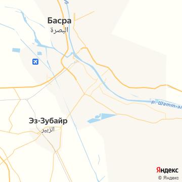 Карта Басра