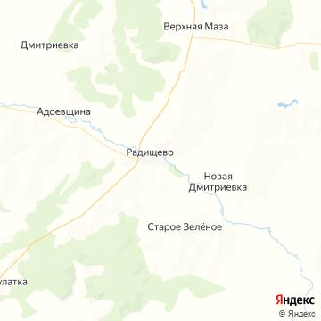 Карта Радищево