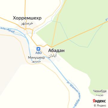 Карта Абадана