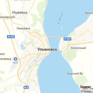 Карта Ульяновска