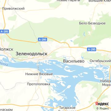 Карта Зеленодольска