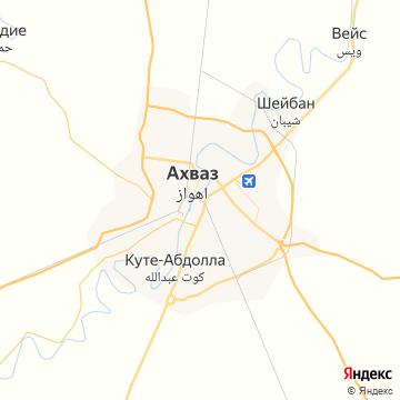 Карта Ахваза