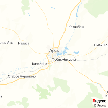 Карта Арска