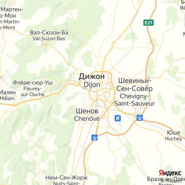 Карта Дижона