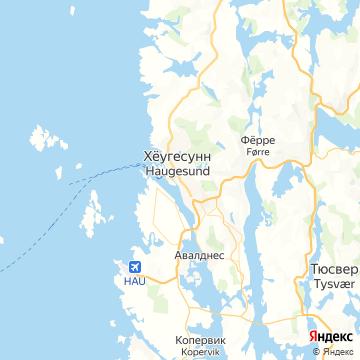 Карта Хёугесунна