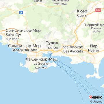 Карта Тулона