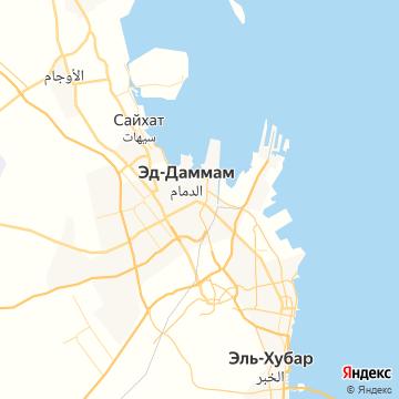 Карта Даммама