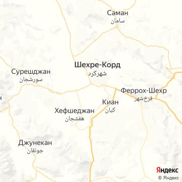 Карта Шахра-Корда