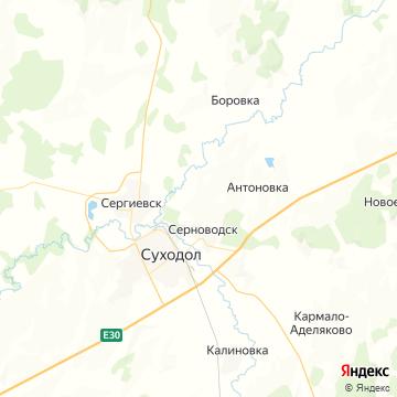 Карта Серноводска