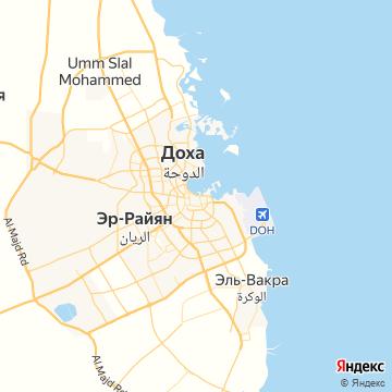 Карта Дохи