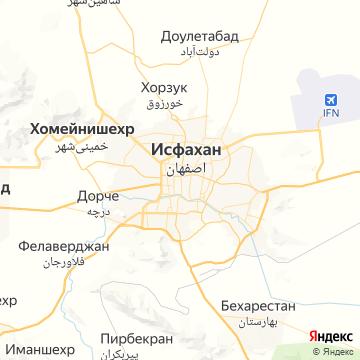 Карта Исфахана