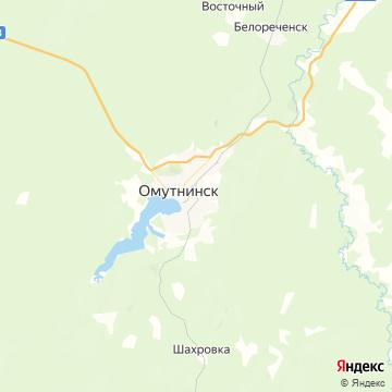 Карта Омутнинска